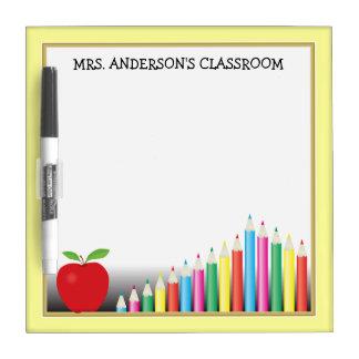 Lápices y profesor coloreados de Apple Tablero Blanco