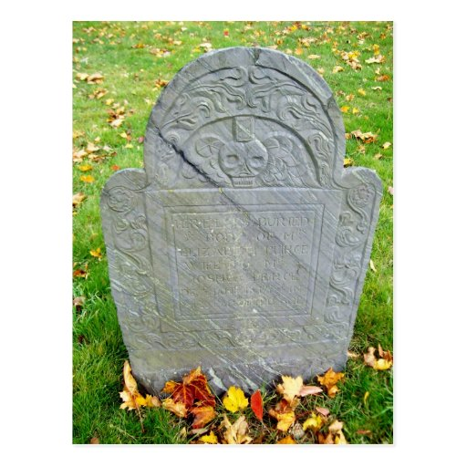 Lápida mortuaria de Elizabeth Pierce - 1717 Postal