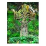Lápida mortuaria de la cruz céltica postal