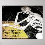 Lápida mortuaria esquelética (1) impresiones