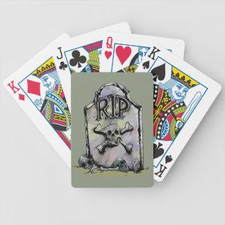 Lápida mortuaria o piedra sepulcral del baraja cartas de poker