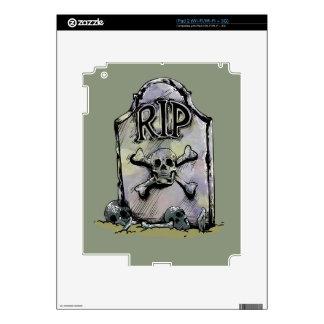Lápida mortuaria o piedra sepulcral del calcomanía para el iPad 2