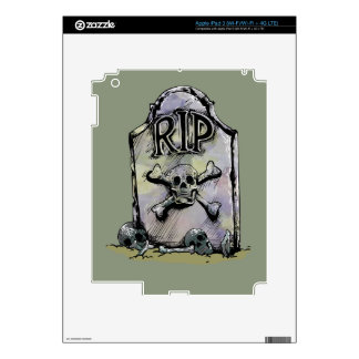 Lápida mortuaria o piedra sepulcral del iPad 3 pegatina skin