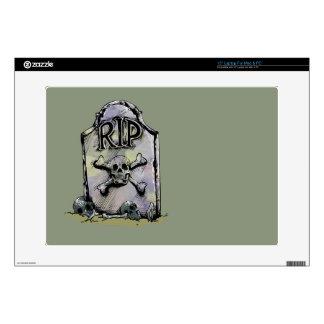 Lápida mortuaria o piedra sepulcral del portátil 38,1cm skin