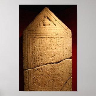 Lápida mortuaria romana póster