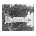 Lápida mortuoria de Photograp grave de Bill Hickoc Impresión En Lienzo