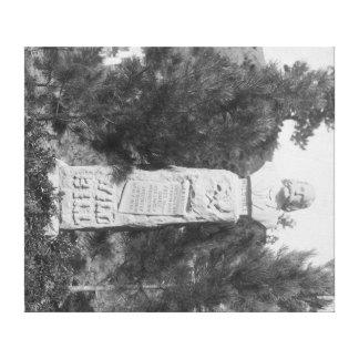 Lápida mortuoria de Photograp grave de Bill Hickoc Lienzo Envuelto Para Galerias