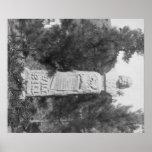 Lápida mortuoria de Photograp grave de Bill Hickoc Póster