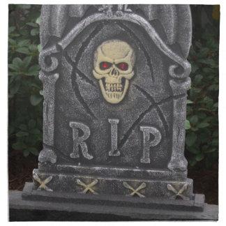 Lápida mortuoria de R I P - fotografía Servilleta