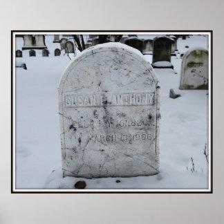 Lápida mortuoria de Susan B. Anthony Grave Impresiones