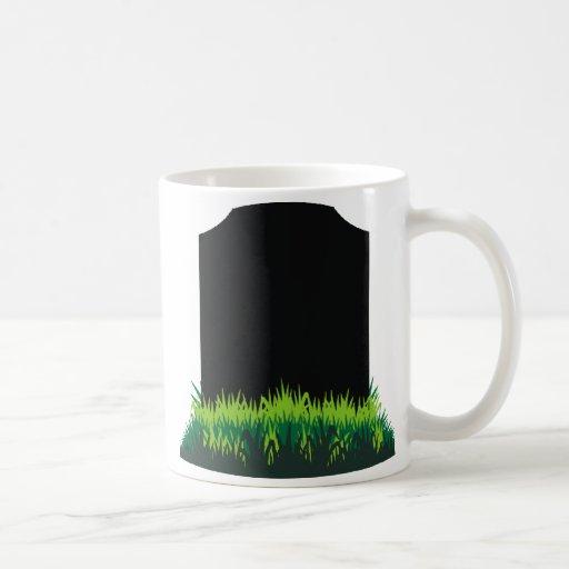 Lápida mortuoria taza de café
