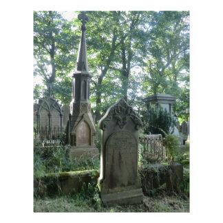 Lápidas mortuarias del Victorian en el Parsonage d Membretes Personalizados