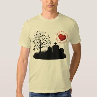 Lápidas mortuorias del amor camisas