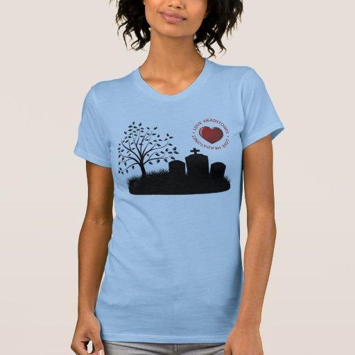 Lápidas mortuorias del amor camiseta