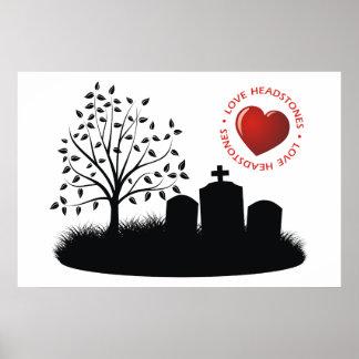 Lápidas mortuorias del amor póster