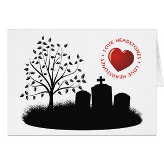 Lápidas mortuorias del amor tarjeta de felicitación