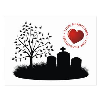 Lápidas mortuorias del amor tarjetas postales
