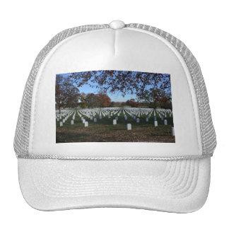 Lápidas mortuorias del cementerio de Arlington en  Gorras