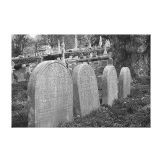 lápidas mortuorias viejas impresión en lienzo estirada