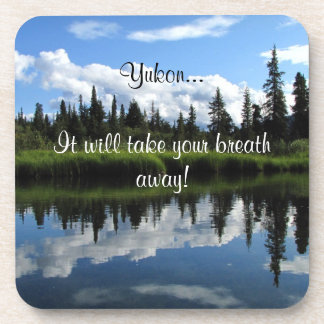 Lapie River Reflection; Yukon Territory Souvenir Beverage Coaster
