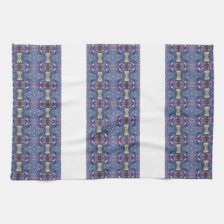 Lapis Blue Chain Neo-Victorian Towels