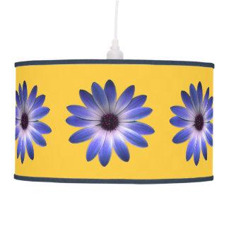 Lapis Blue Daisy on Yellow Lamps