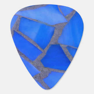 Lapis Blue Mosaic Stained Glass Guitar Pick