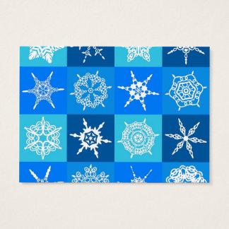 Lapis Blue Snowflakes Collection Designer Business Card