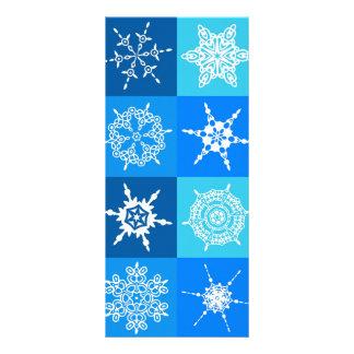 Lapis Blue Snowflakes Collection Custom Rack Card