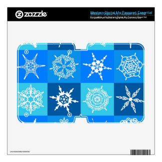 Lapis Blue Snowflakes Collection WD My Passport Skin