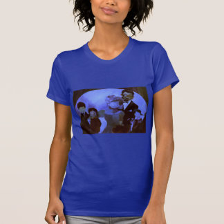 Lapis Blue T-Shirt with Matching 'Family Portrait'