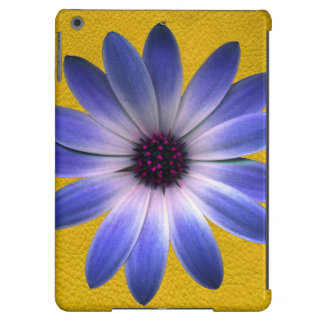 Lapis Daisy on Yellow Leather Texture iPad Air Cover