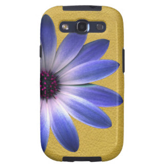 Lapis Daisy on Yellow leather texture Samsung Galaxy SIII Cover
