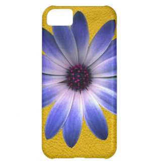 Lapis Daisy on Yellow Leather Texture iPhone 5C Covers