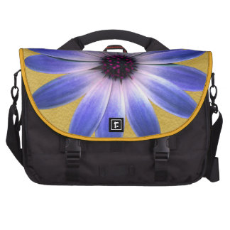 Lapis Daisy on Yellow leather texture Computer Bag
