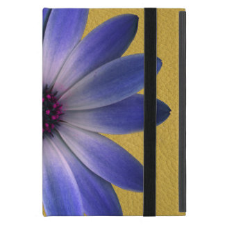 Lapis Daisy on Yellow leather texture Cover For iPad Mini