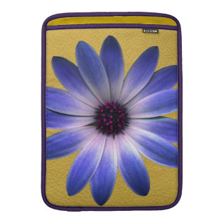 Lapis Daisy on Yellow leather texture Sleeves For MacBook Air