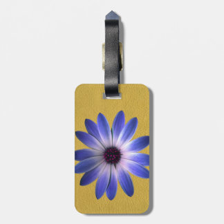 Lapis Daisy on Yellow leather texture Tags For Luggage