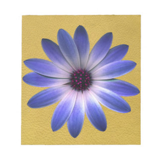 Lapis Daisy on Yellow leather texture Memo Pads