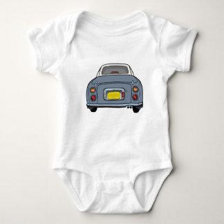 Lapis Grey Figaro Car Baby Romper