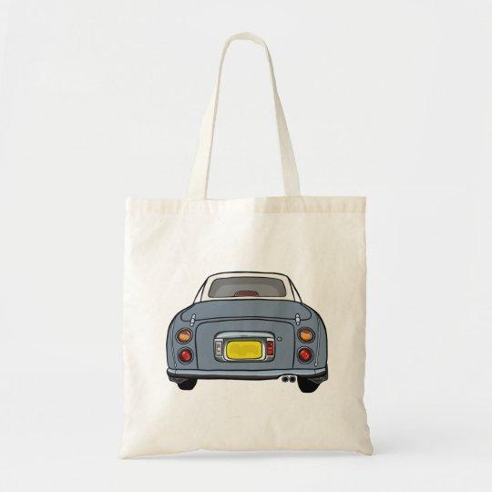 Lapis Grey Nissan Figaro Car Tote Bag