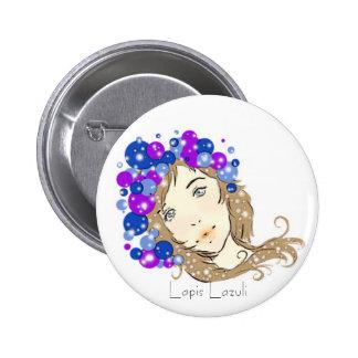 Lapis Lazuli 2 Inch Round Button