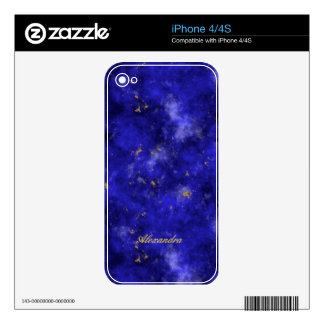 Lapis Lazuli Decals For The iPhone 4S