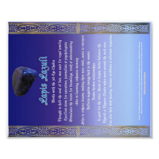 Lapis Lazuli Properties Chart Photo Print