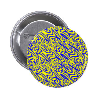 Lapis Lazuli Swirlies Abstract Pattern Button