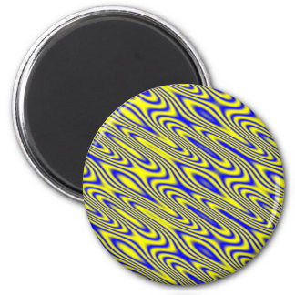 Lapis Lazuli Swirlies Abstract Pattern Magnet