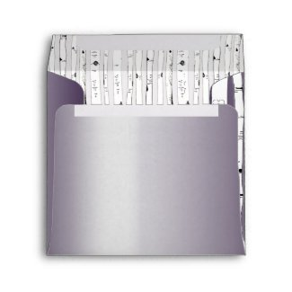 Lapis Purple Birch Tree Wedding Square Envelopes