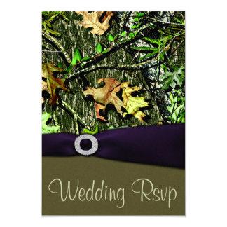 Lapis Purple Hunting Camo Wedding RSVP Cards