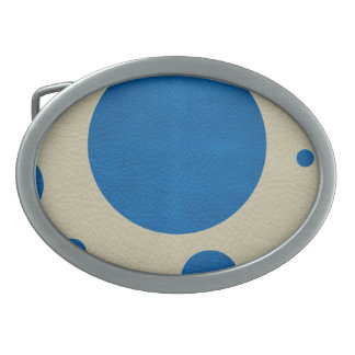 Lapis Scattered Spots on Stone Leather Texture Oval Belt Buckle