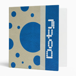Lapis Scattered Spots on Stone Leather Texture Vinyl Binders